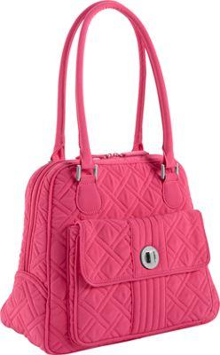 Vera Bradley Turn Lock Satchel - Solids Geranium - Vera Bradley Fabric Handbags