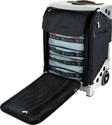 ZUCA Flyer Travel Black/Silver Frame Black - Silver Frame - ZUCA Softside Carry-On