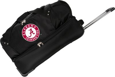 "Denco Sports Luggage NCAA University of Alabama Crimson Tide 27"""" Drop Bottom Wheeled Duffel Bag Black - Denco Sports Luggage Travel Duffels"
