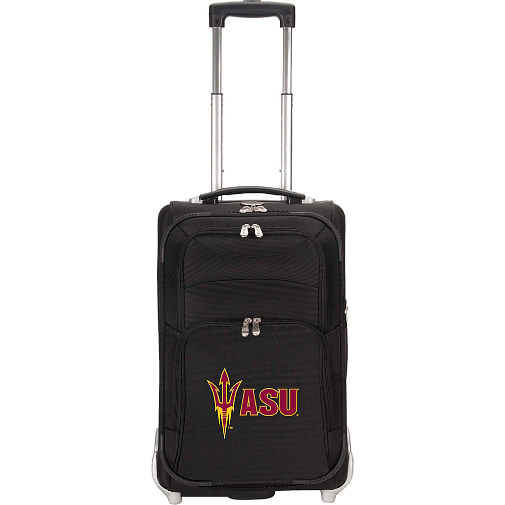 Denco Sports Luggage NCAA Arizona State University Sun Devils 21 Upright Exp Wheeled Carry-on Black - Denco Sports Luggage Small Rolling Luggage - Luggage, Small Rolling Luggage