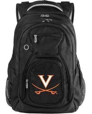 Denco Sports Luggage NCAA University of Virginia Cavaliers 19 inch Laptop Backpack Black - Denco Sports Luggage Laptop Backpacks