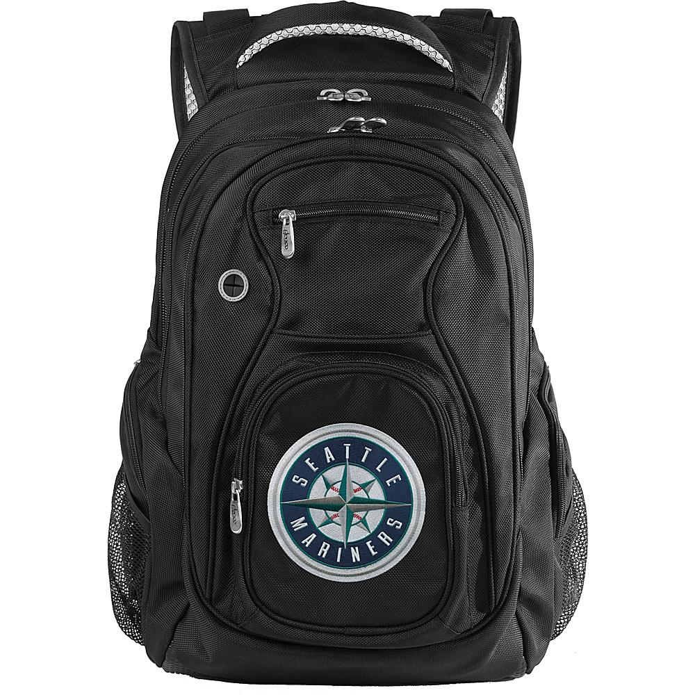 "Denco Sports Luggage MLB Seattle Mariners 19"" Laptop Backpack Black - Denco Sports Luggage Laptop Backpacks"