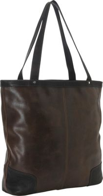 Piel Vintage Vertical Leather Tote Vintage Brown - Piel Leather Handbags
