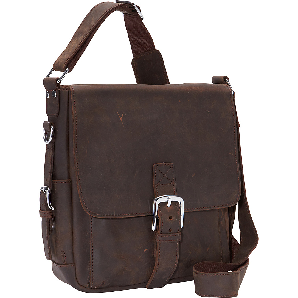Vagabond Traveler 12 Leather Messenger Bag Dark Brown - Vagabond Traveler Messenger Bags - Work Bags & Briefcases, Messenger Bags