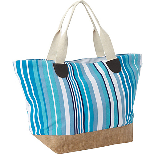 Earth Axxessories Canvas Tote Blue - Earth Axxessories Fabric Handbags