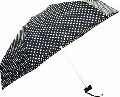 Leighton Umbrellas Genie with Case black with white dots - Leighton Umbrellas Umbrellas and Rain Gear