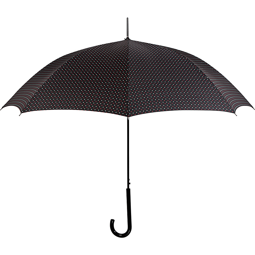Leighton Umbrellas Milan DL black red white Leighton Umbrellas Umbrellas and Rain Gear