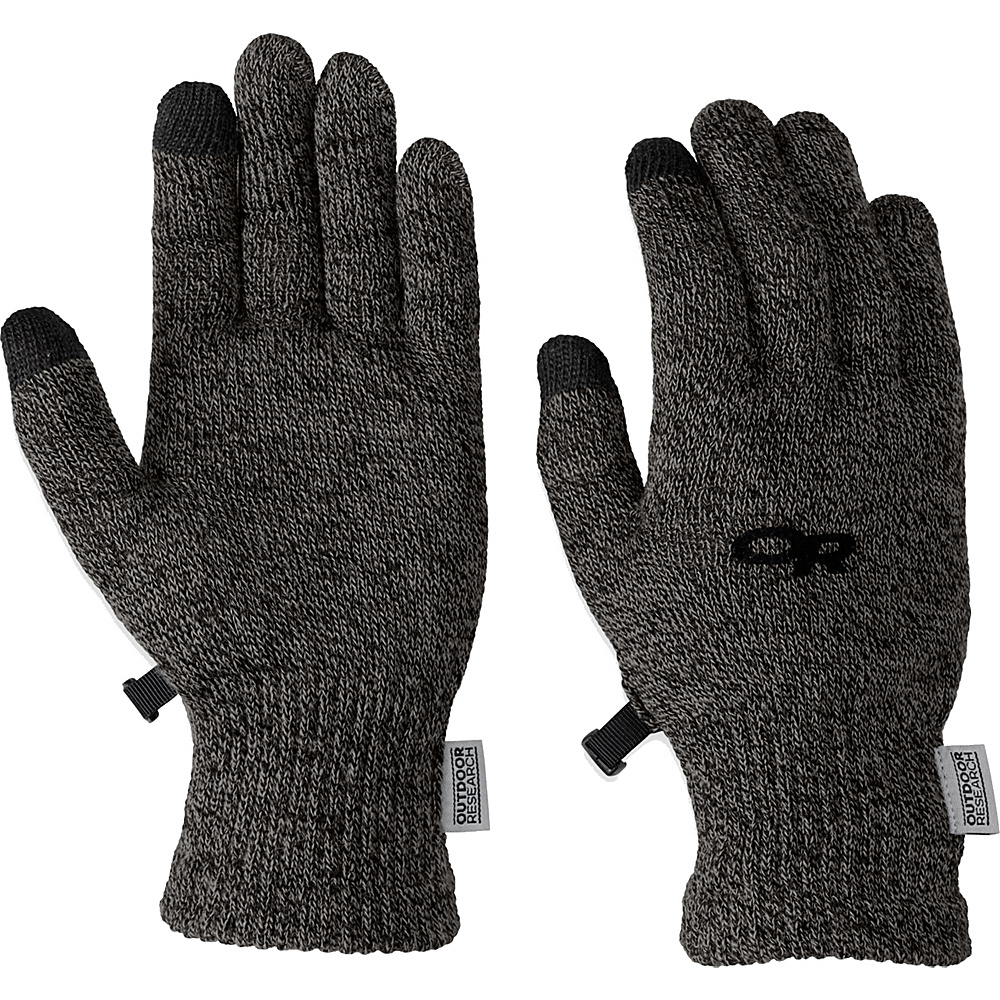 Outdoor Research Biosensor Liners Mens S - Charcoal - Outdoor Research Hats/Gloves/Scarves - Fashion Accessories, Hats/Gloves/Scarves