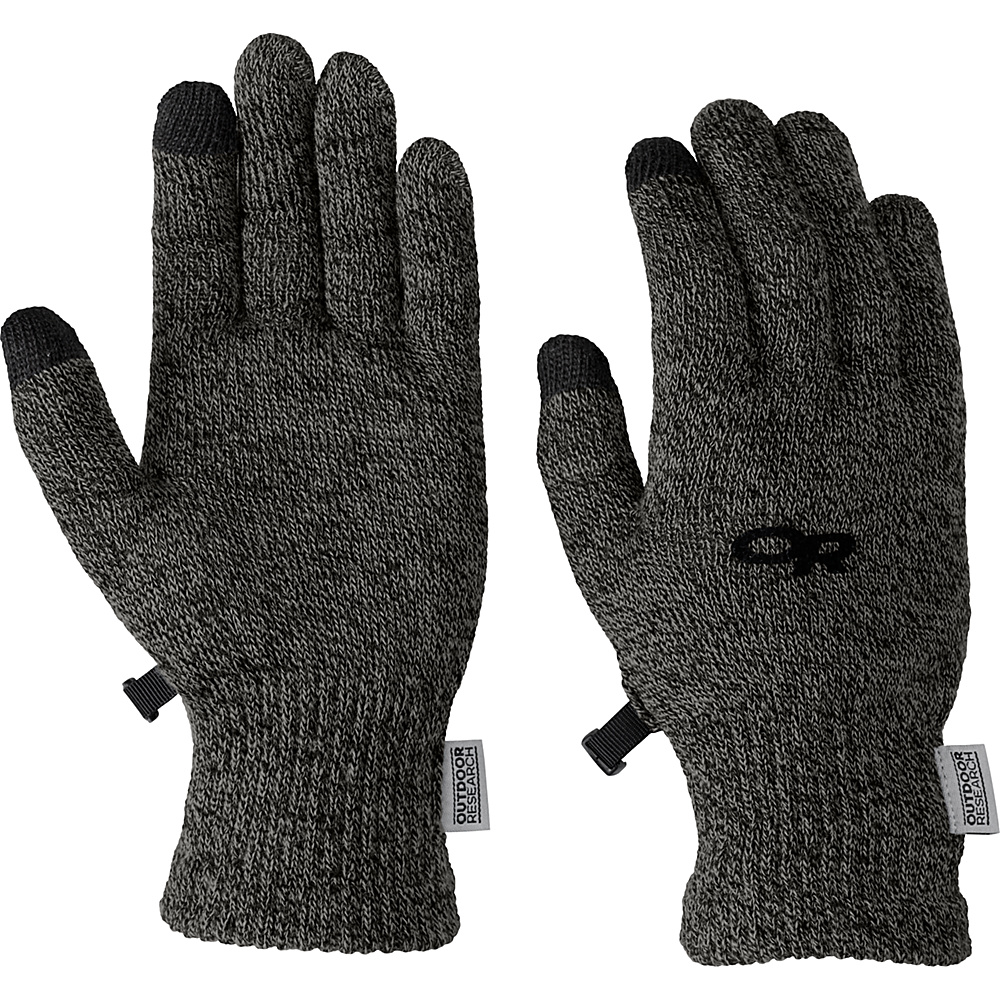 Outdoor Research Biosensor Liners Mens XL - Charcoal - Outdoor Research Hats/Gloves/Scarves - Fashion Accessories, Hats/Gloves/Scarves