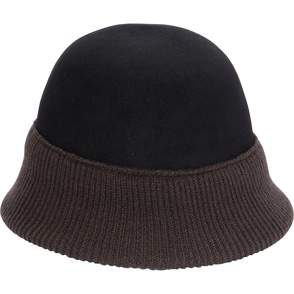 Magid Two tone Cloche Black Grey Magid Hats Gloves Scarves
