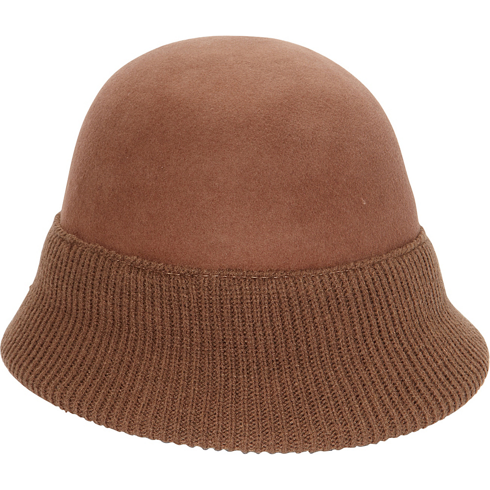 Magid Two tone Cloche Camel Brown Magid Hats Gloves Scarves