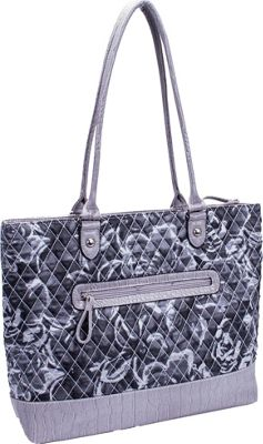 Parinda Allie Grey Floral - Parinda Manmade Handbags