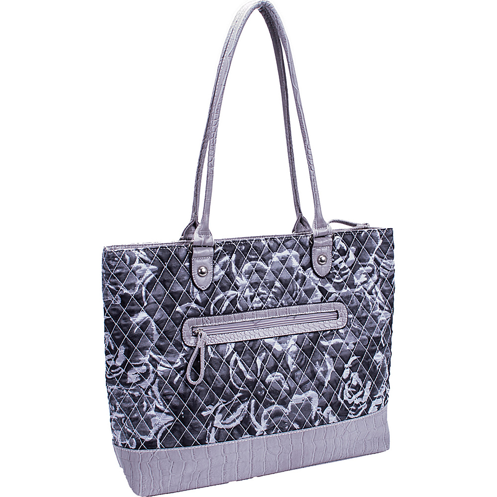 Parinda Allie Grey Floral Parinda Manmade Handbags
