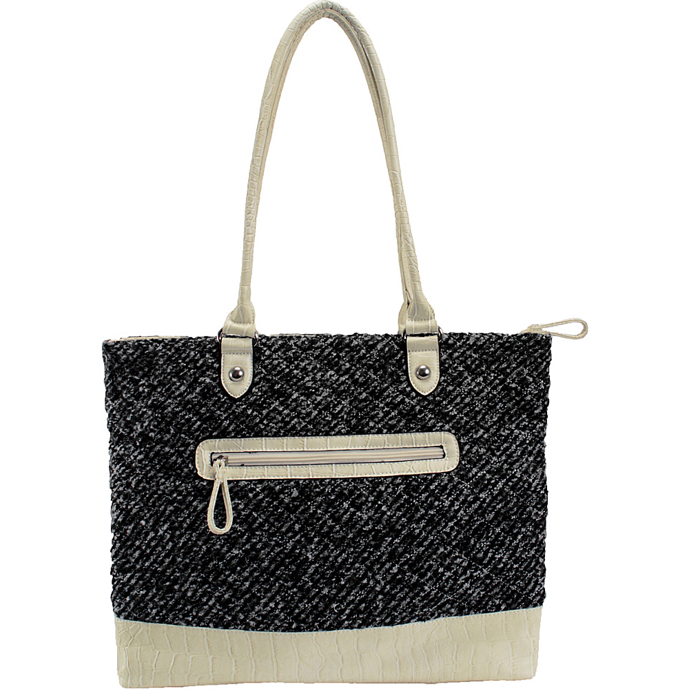 Parinda Allie Tweed Smoke Parinda Manmade Handbags