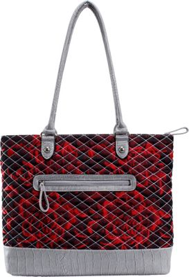 Parinda Allie Red Floral Grey - Parinda Manmade Handbags
