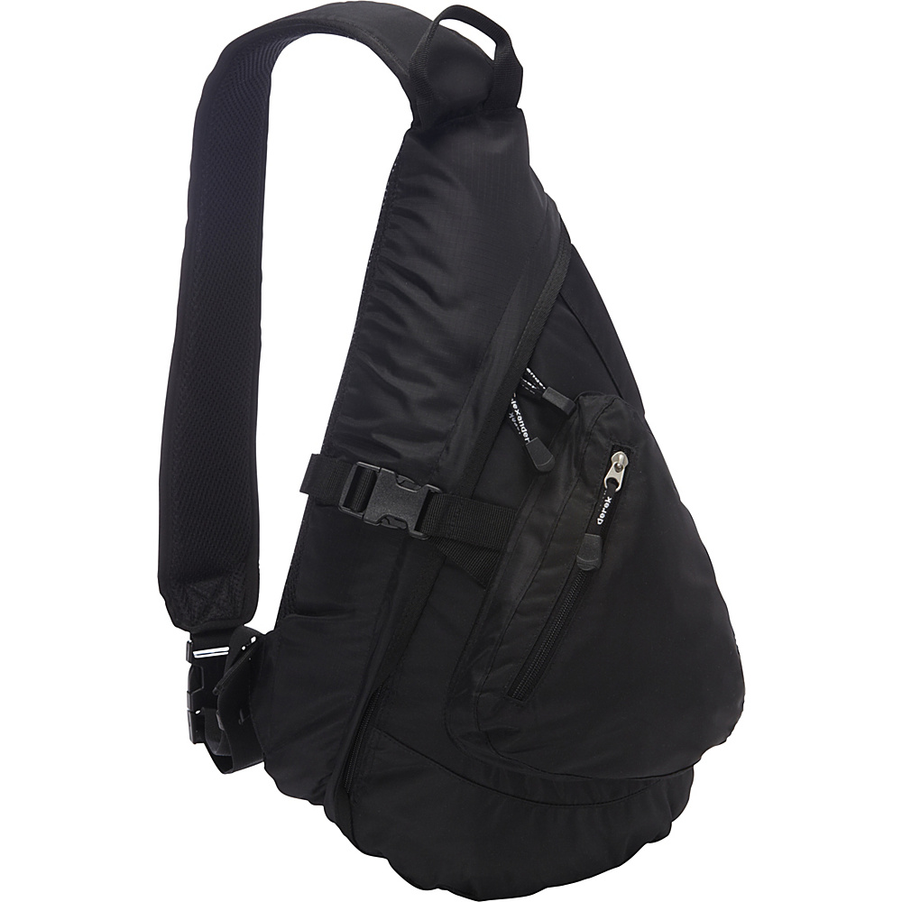 Derek Alexander Front Zip Body Sling Bag Black - Derek Alexander Slings - Backpacks, Slings