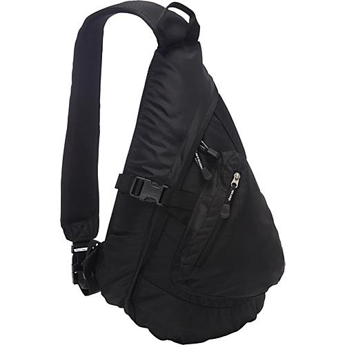 Derek Alexander Front Zip Body Sling Bag Black - Derek Alexander Slings