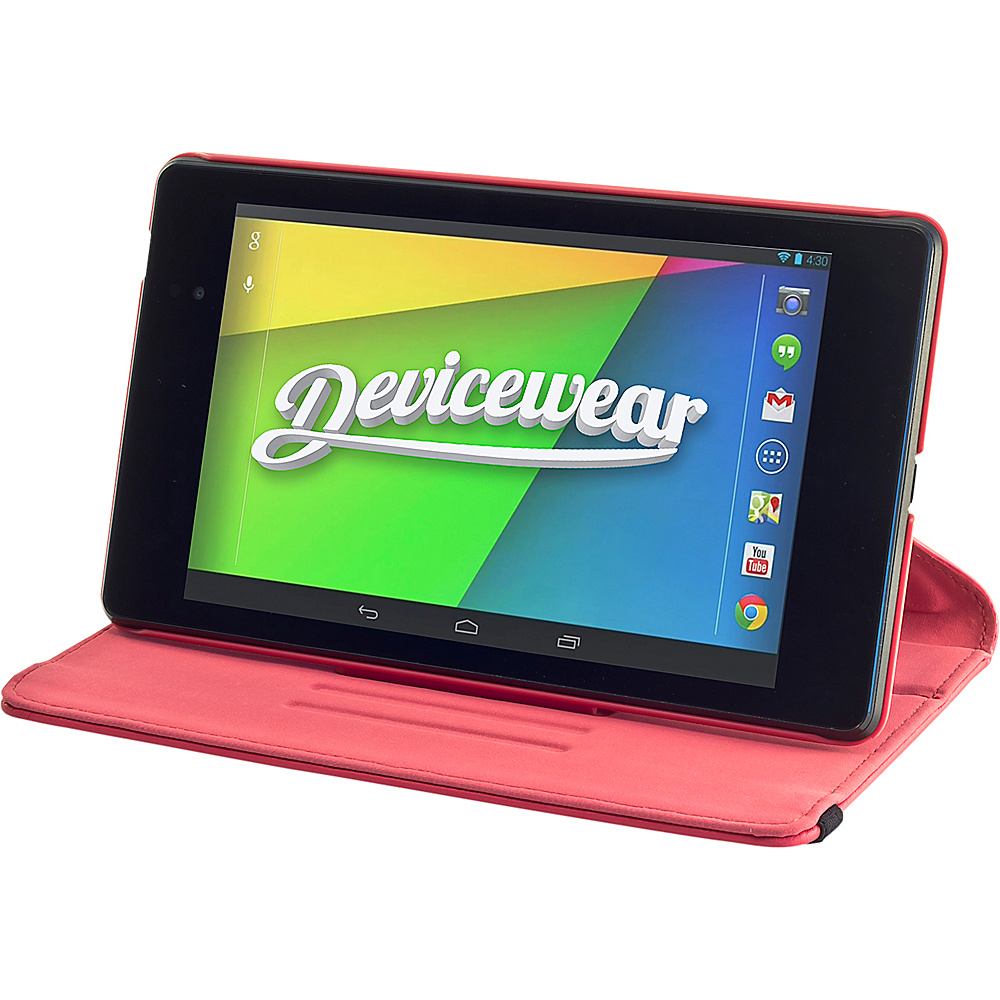 Devicewear Google Nexus 7 - The Ridge: Vegan Leather Case Red - Devicewear Electronic Cases