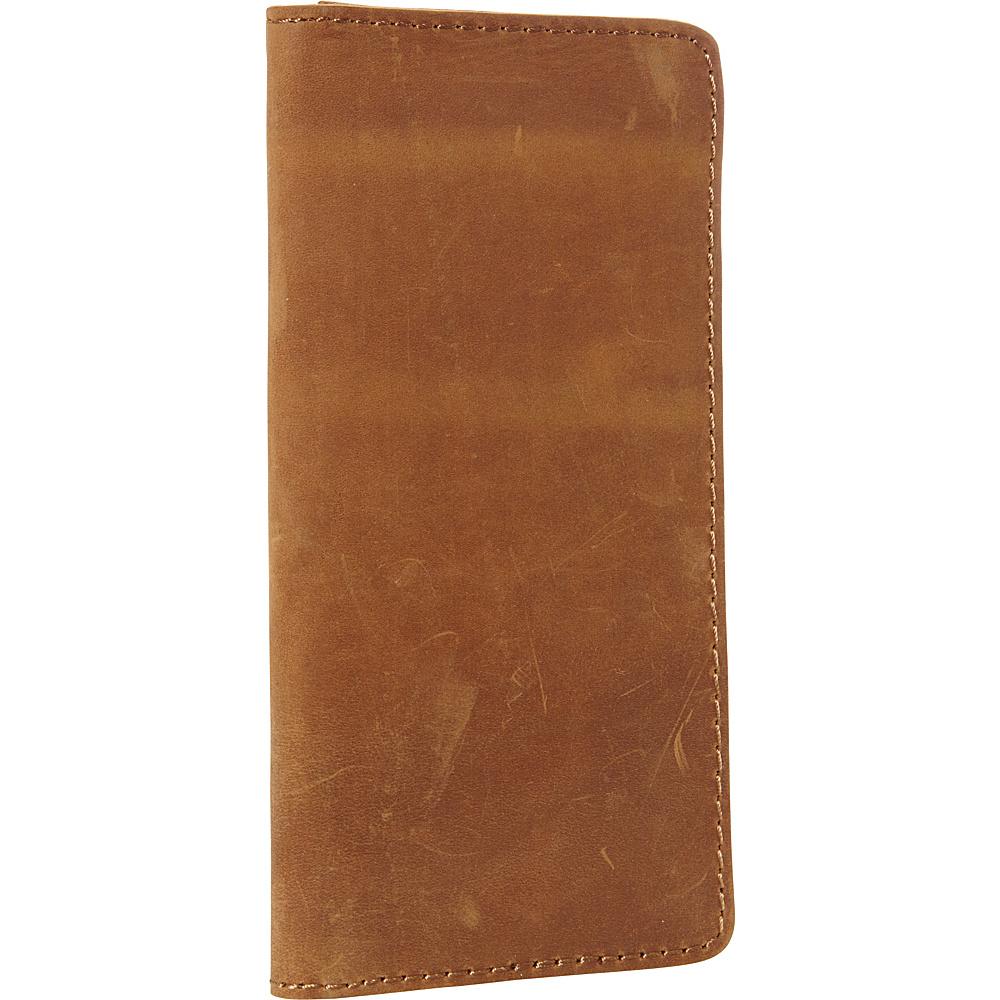 Vagabond Traveler 8.75 Cowhide Leather Passport Air Ticket Holder Brown - Vagabond Traveler Travel Wallets - Travel Accessories, Travel Wallets