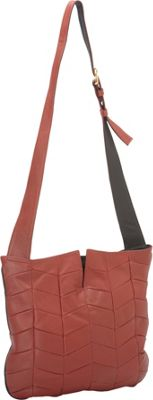 J. P. Ourse & Cie. Park Avenue Patchwork Berry Red/Black - J. P. Ourse & Cie. Leather Handbags