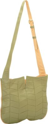 J. P. Ourse & Cie. Park Avenue Patchwork Kiwi/Butter - J. P. Ourse & Cie. Leather Handbags