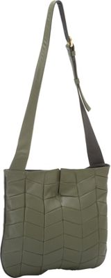 J. P. Ourse & Cie. Park Avenue Patchwork Olive/Black - J. P. Ourse & Cie. Leather Handbags