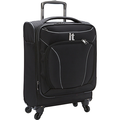 IT Luggage MegaLite Premium 22 Carry On by it luggage USA Black - IT Luggage Small Rolling Luggage