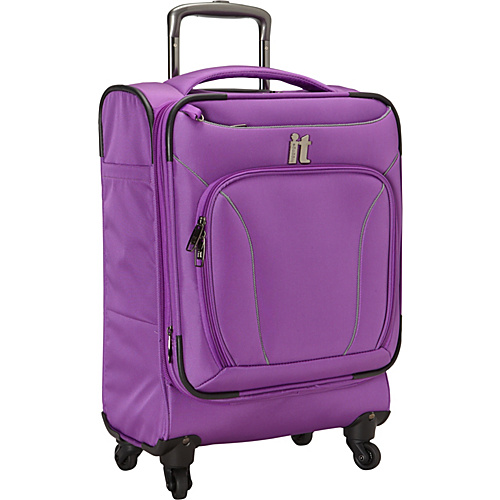 IT Luggage MegaLite Premium Collection 22 Carry-On Spinner Purple - IT Luggage Small Rolling Luggage