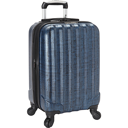 IT Luggage Woven 22 Carry On BLUE/BLACK WOVEN - IT Luggage Small Rolling Luggage