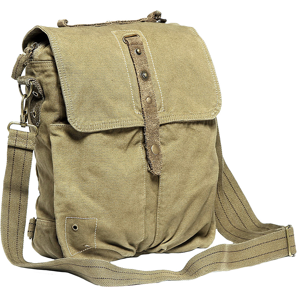 Vagabond Traveler Tall 9 Small Satchel Shoulder Bag Light Green - Vagabond Traveler Slings - Backpacks, Slings