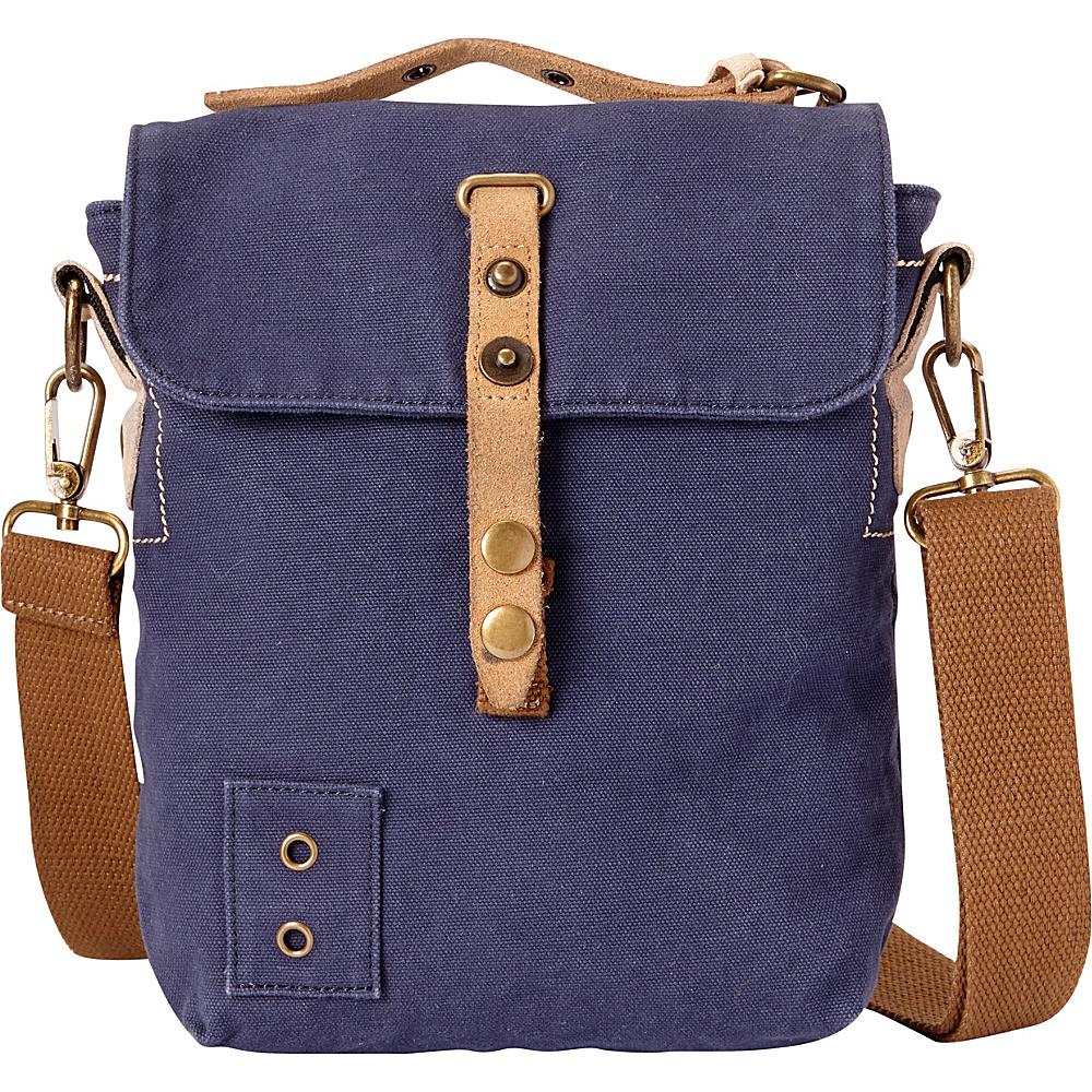 Vagabond Traveler Tall 9 Small Satchel Shoulder Bag Blue - Vagabond Traveler Slings - Backpacks, Slings