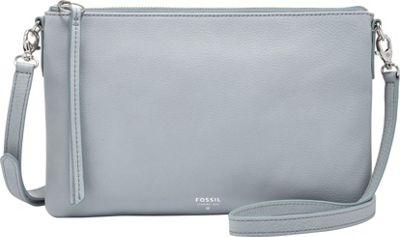 Fossil Sydney Top Zip Crossbody Smokey Blue - Fossil Leather Handbags