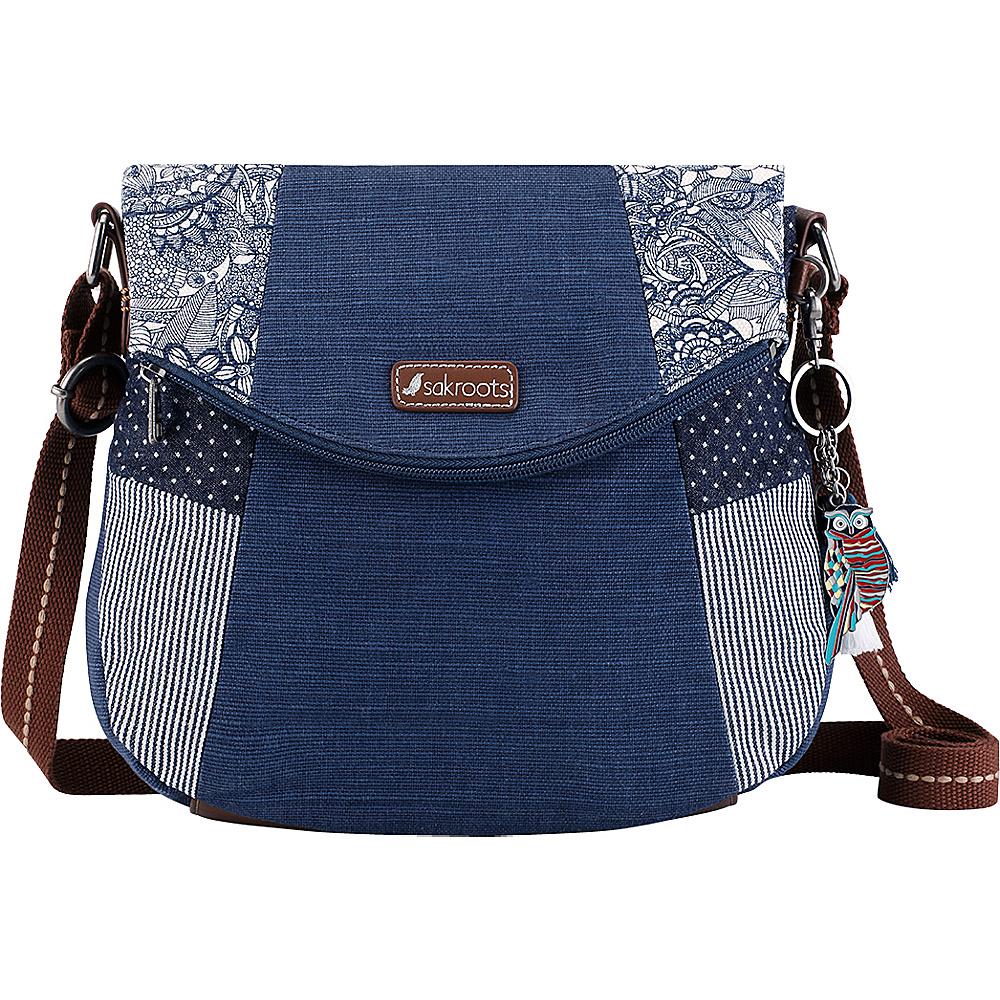 Sakroots Artist Circle Foldover Crossbody Navy Spirit Desert - Sakroots Fabric Handbags - Handbags, Fabric Handbags