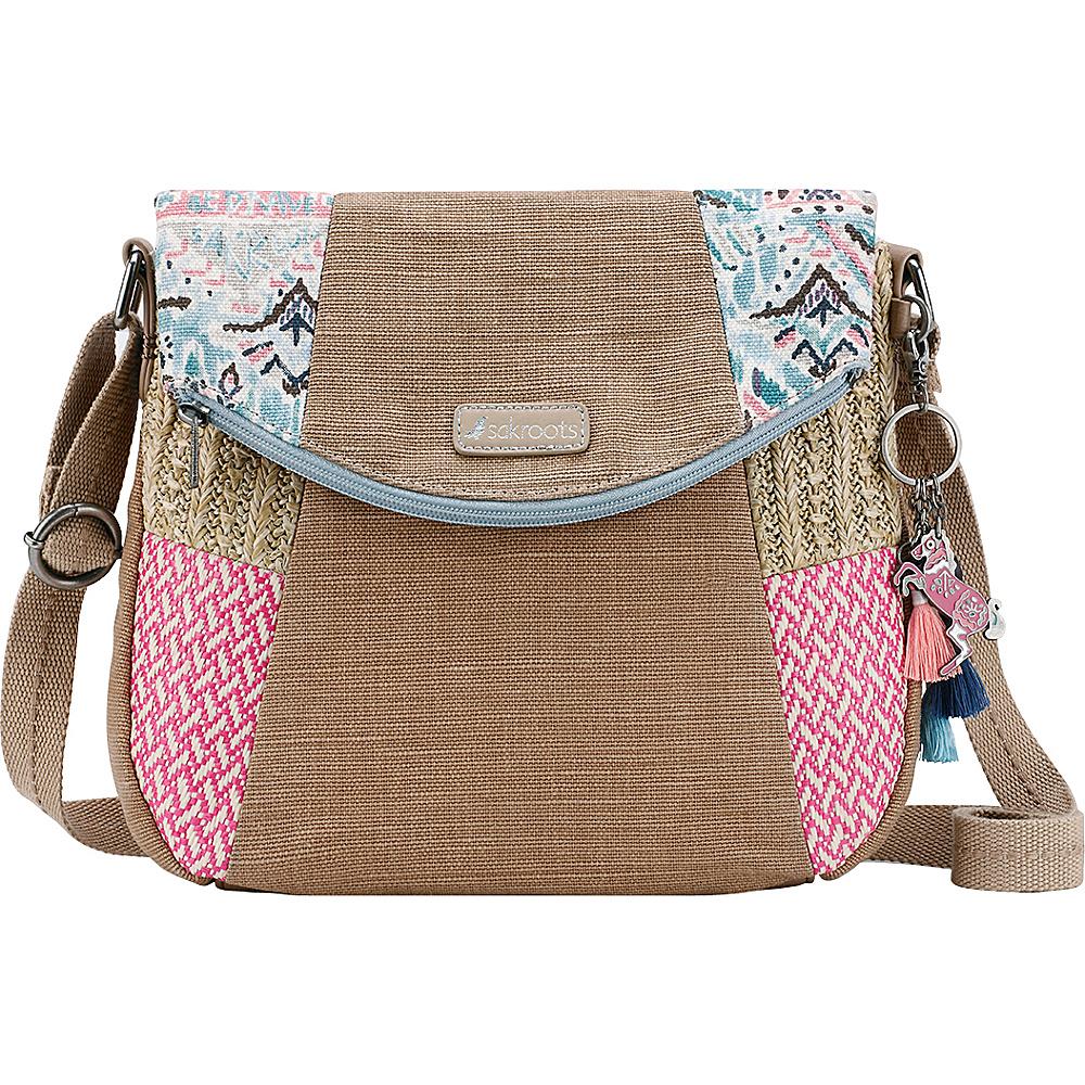 Sakroots Artist Circle Foldover Crossbody Turq Brave Beauti - Sakroots Fabric Handbags - Handbags, Fabric Handbags