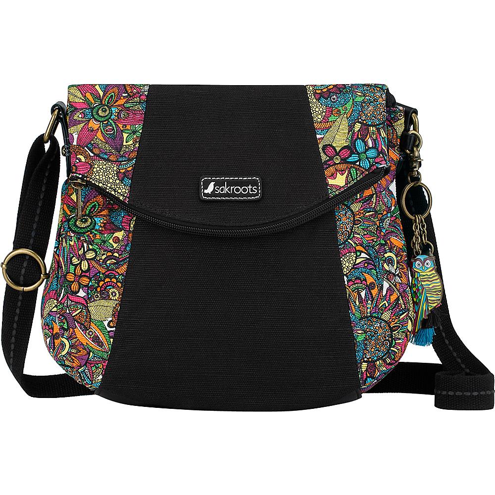 Sakroots Artist Circle Foldover Crossbody Rainbow Spirit Desert Twin - Sakroots Fabric Handbags - Handbags, Fabric Handbags