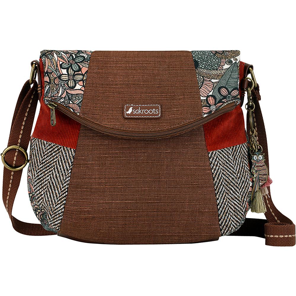 Sakroots Artist Circle Foldover Crossbody Sienna Spirit Desert - Sakroots Fabric Handbags - Handbags, Fabric Handbags