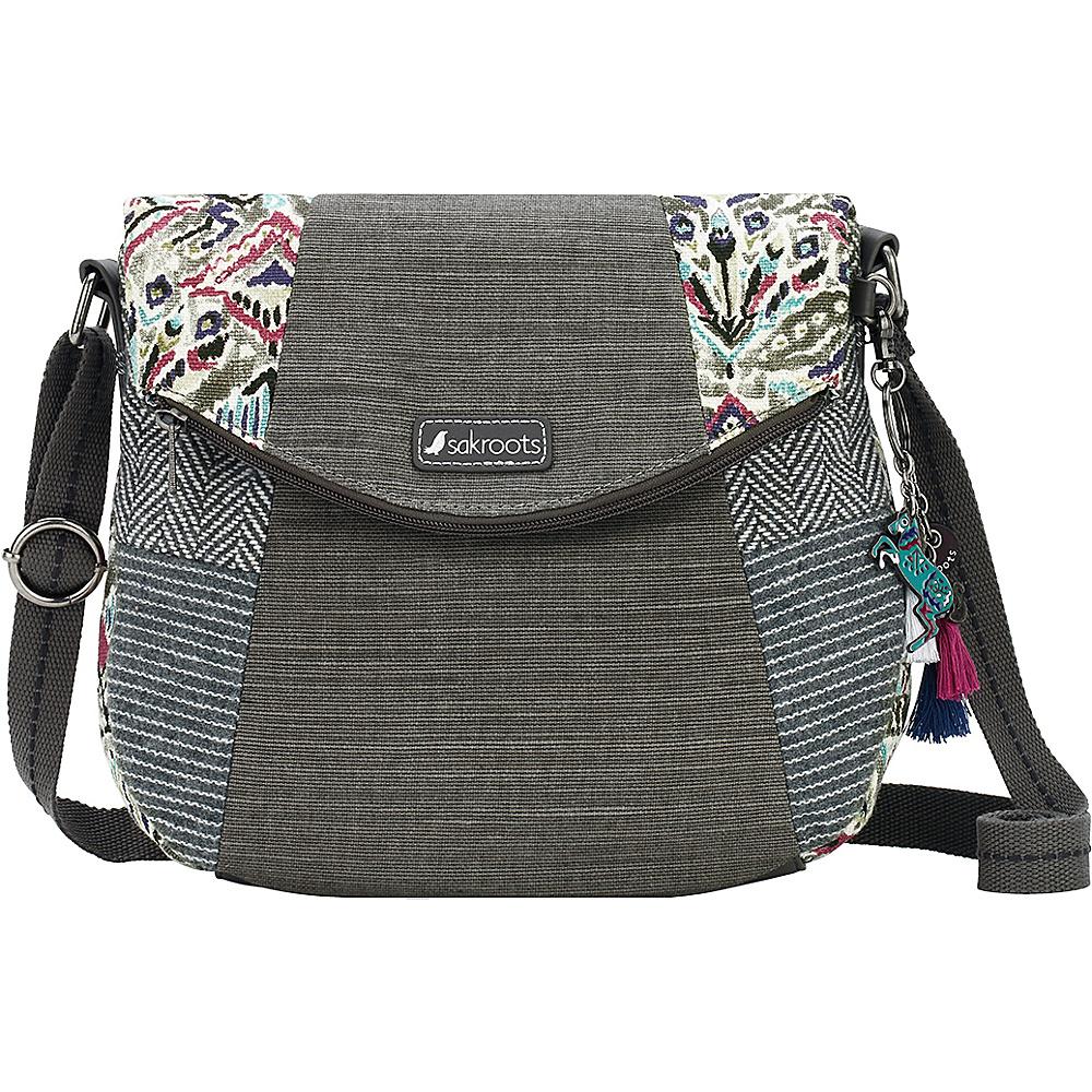 Sakroots Artist Circle Foldover Crossbody Slate Brave Beauti - Sakroots Fabric Handbags - Handbags, Fabric Handbags
