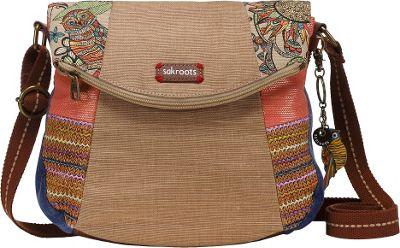 Sakroots Artist Circle Foldover Crossbody Camel Spirit Desert Patch - Sakroots Fabric Handbags
