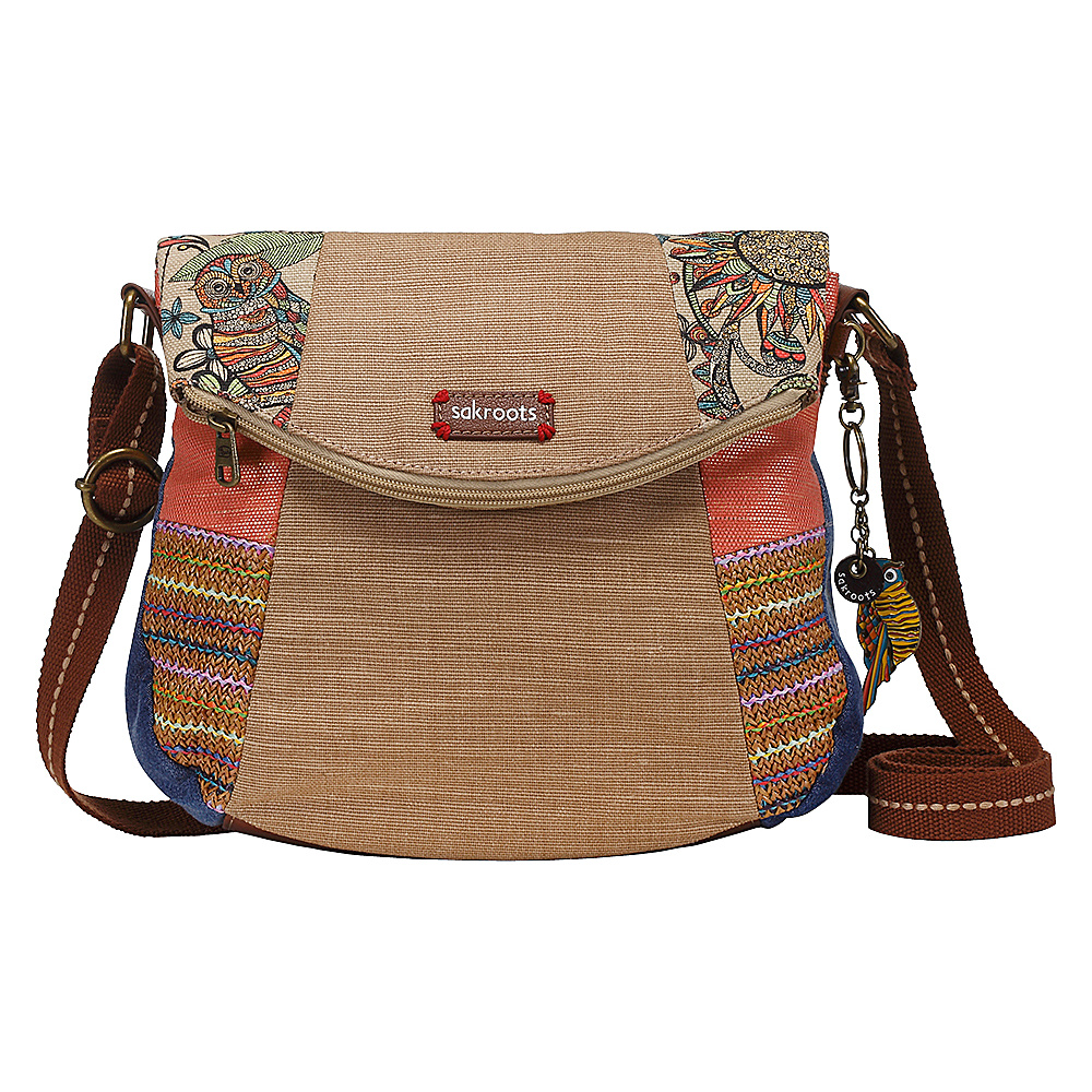 Sakroots Artist Circle Foldover Crossbody Camel Spirit Desert Patch Sakroots Fabric Handbags