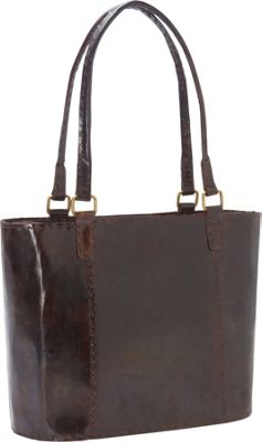 Sharo Leather Bags Women's Large Leather Rustic Tote Dark Brown - Sharo Leather Bags Leather Handbags