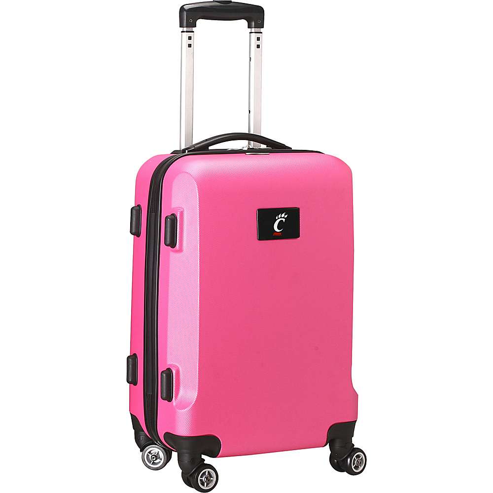 Denco Sports Luggage NCAA 20 Domestic Carry On Pink University of Cincinnati Bearcats Denco Sports Luggage Hardside Carry On