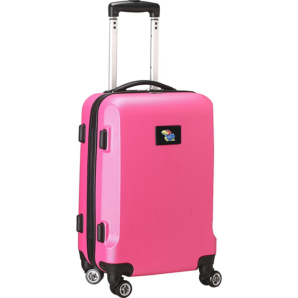 Denco Sports Luggage NCAA 20 Domestic Carry-On Pink University of Kansas Jayhawks - Denco Sports Luggage Hardside Carry-On - Luggage, Hardside Carry-On