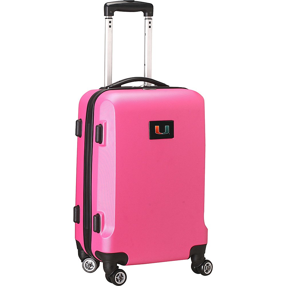 Denco Sports Luggage NCAA 20 Domestic Carry-On Pink University of Miami Hurricanes - Denco Sports Luggage Hardside Carry-On - Luggage, Hardside Carry-On