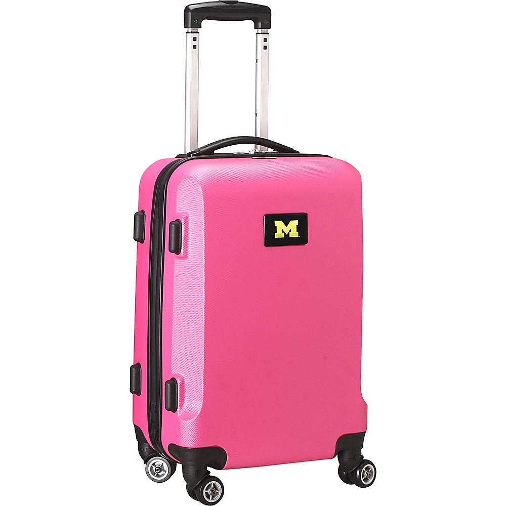 Denco Sports Luggage NCAA 20 Domestic Carry-On Pink University of Michigan Wolverines - Denco Sports Luggage Hardside Carry-On - Luggage, Hardside Carry-On