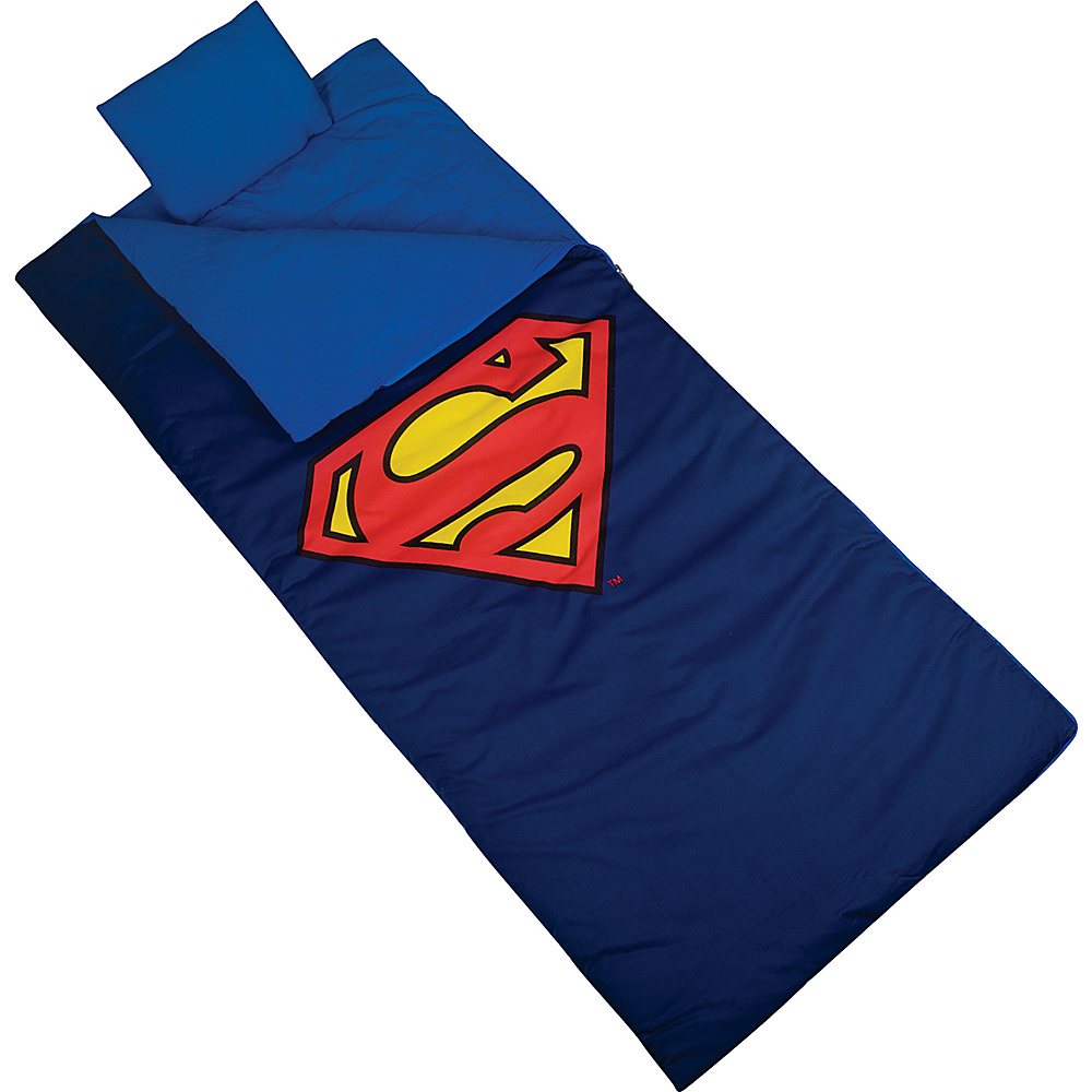 Wildkin Superman Shield Sleeping Bag Superman Wildkin Travel Pillows Blankets