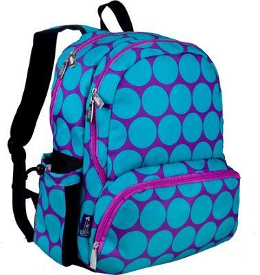 Wildkin Megapak Backpack Big Dots Aqua - Wildkin Everyday Backpacks