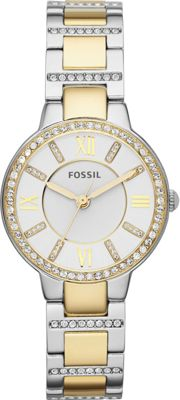 Fossil Virginia Three-Hand Stainless Steel Watch Two Tone-Silver/Gold - Fossil Watches