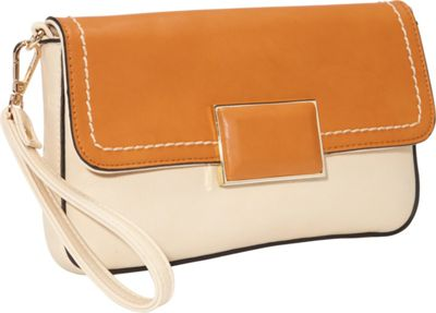 SW Global Helga Closure Clutch Apricot - SW Global Manmade Handbags