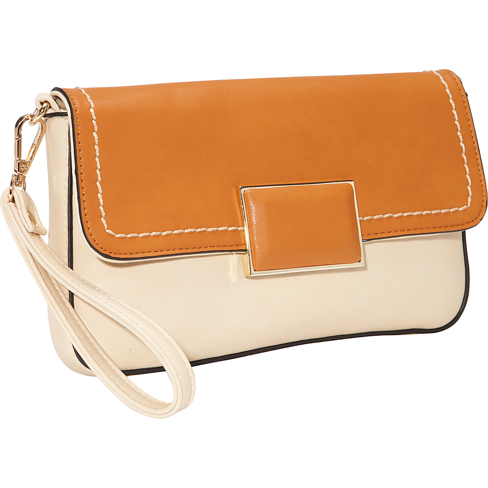 SW Global Helga Closure Clutch Apricot - SW Global Manmade Handbags - Handbags, Manmade Handbags