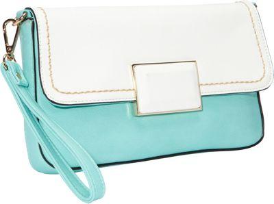 SW Global Helga Closure Clutch BlueApricot - SW Global Manmade Handbags